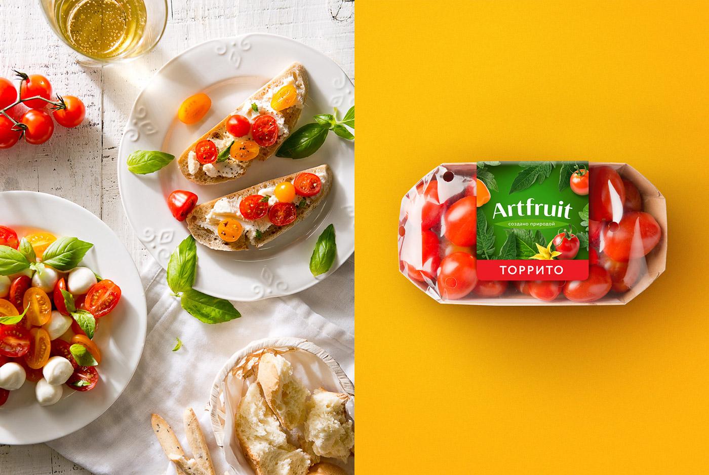 Фудстайлинг и дизайн упаковки Artfruit