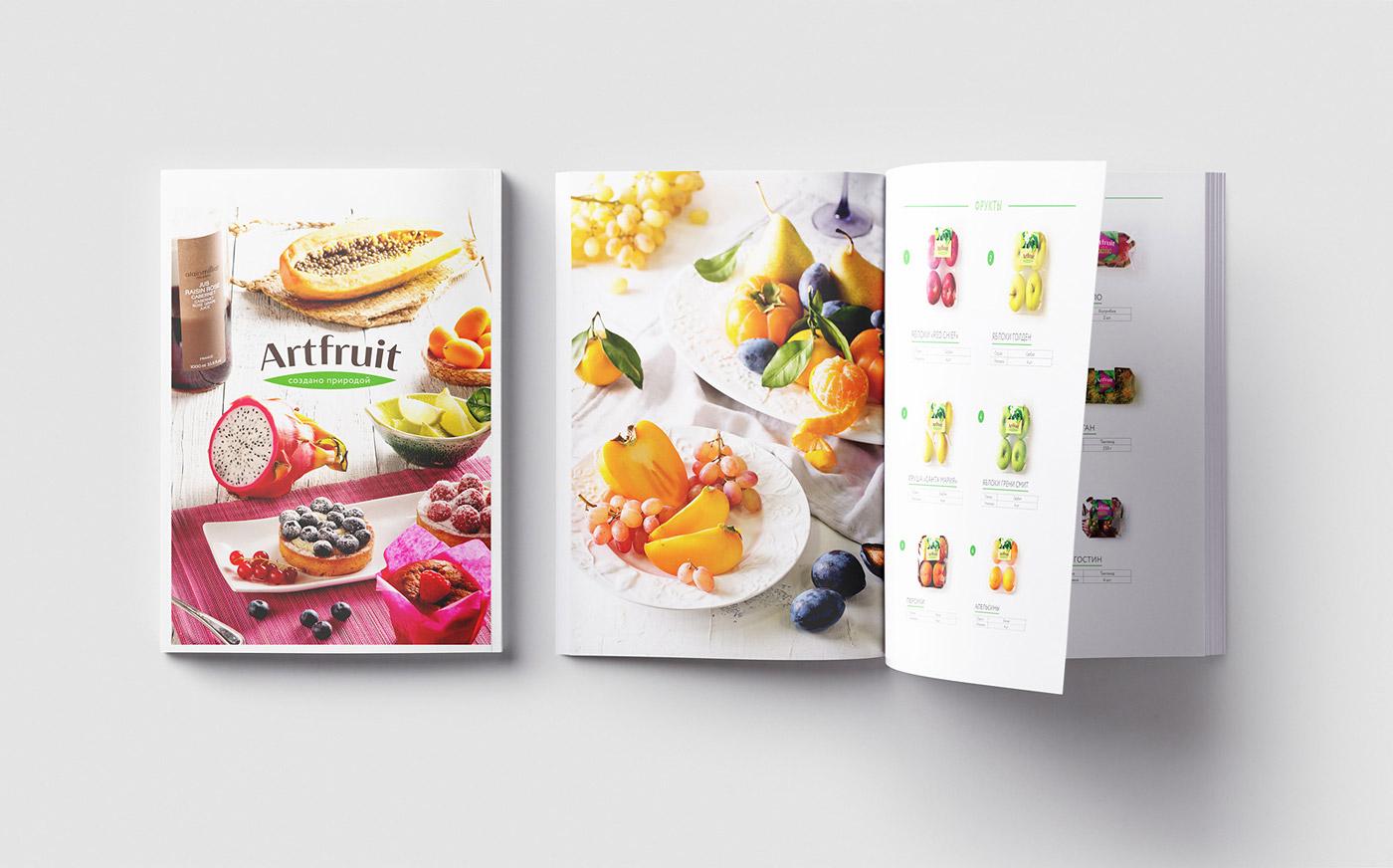 Дизайн каталога продукции Artfruit