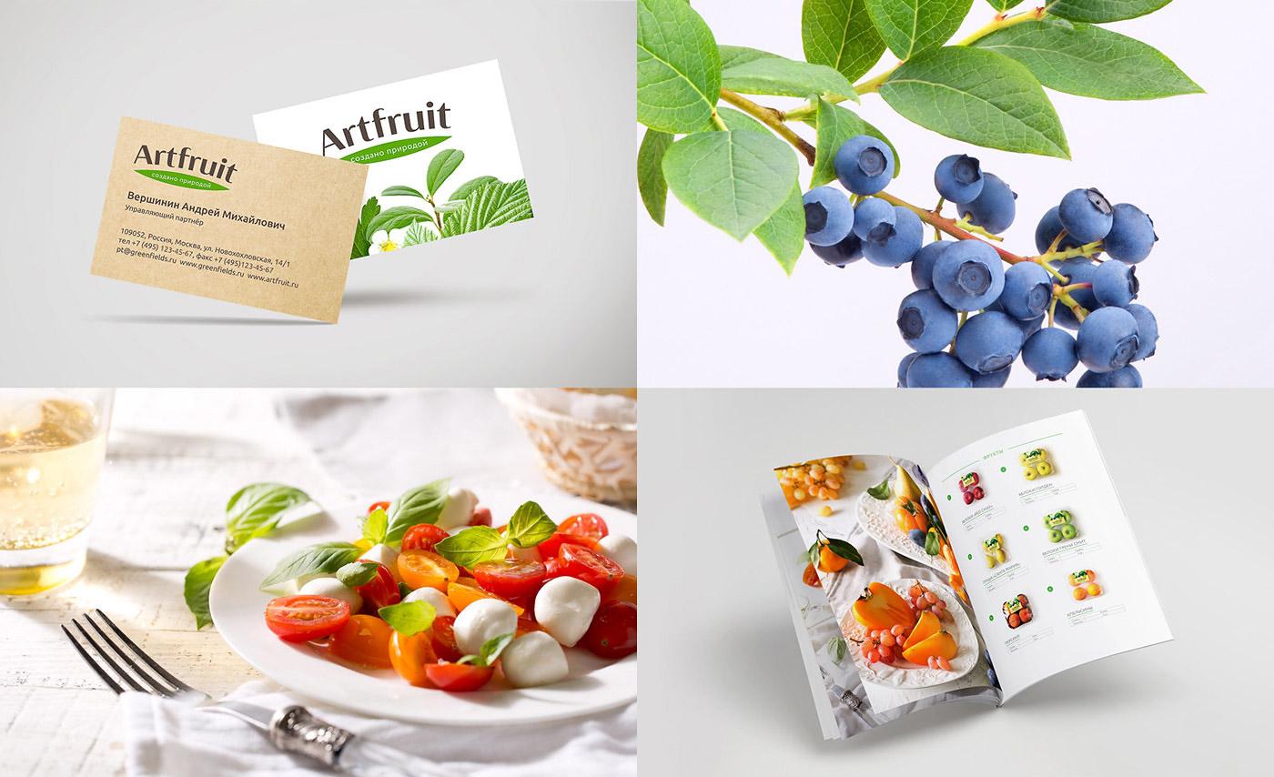 Дизайн полиграфии и профессиональная фотосъемка для Artfruit