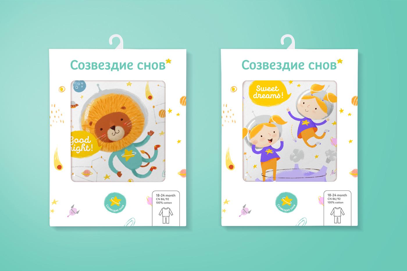 Концепция дизайна упаковки «Созвездие снов»