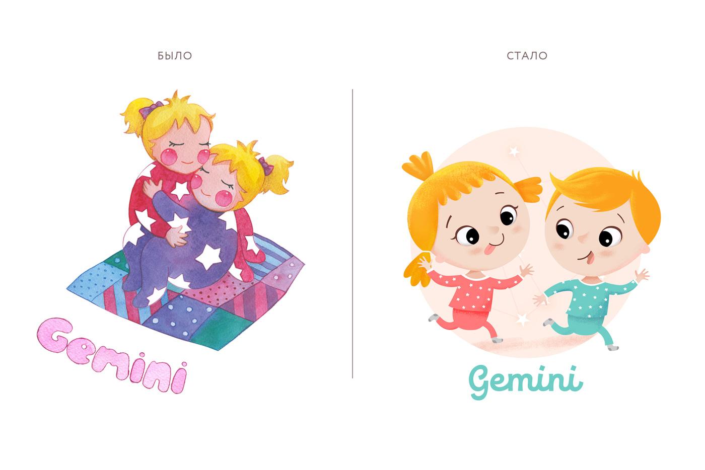 Рестайлинг бренда и создание новых логоперсонажей «Созвездие снов»: до и после