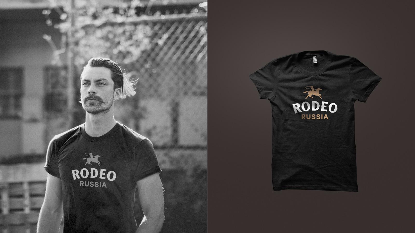 Фирменный стиль «Родео Мираторг» в дизайне футболок