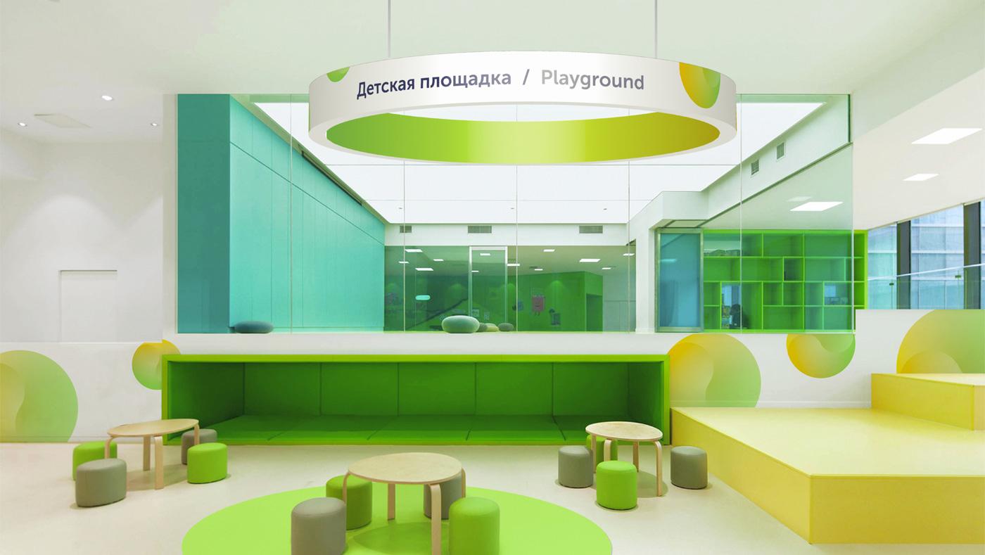 Альтернативный дизайн детской площадки в ТРЦ «Акварель»