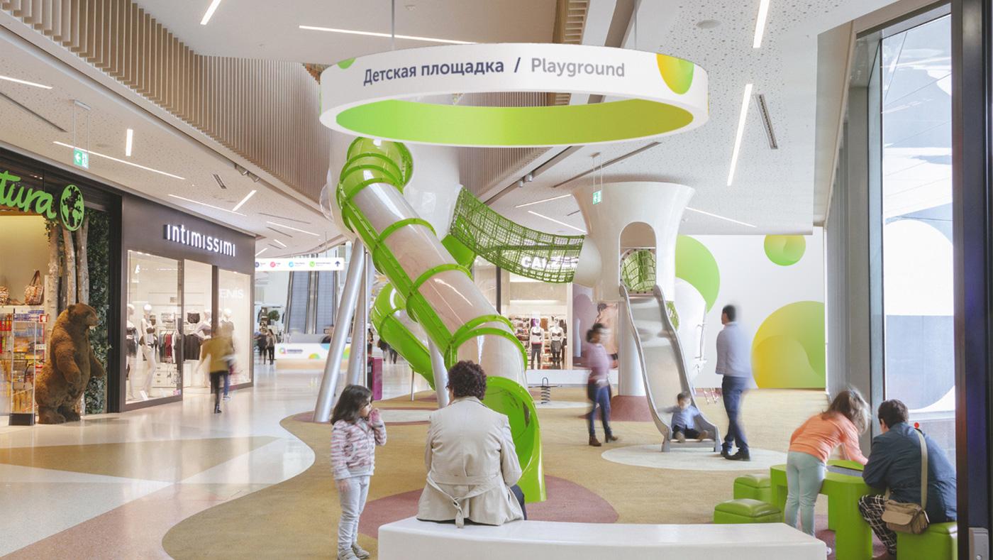 Ритейл-брендинг и зонирование пространства ТРЦ «Акварель» —детская площадка