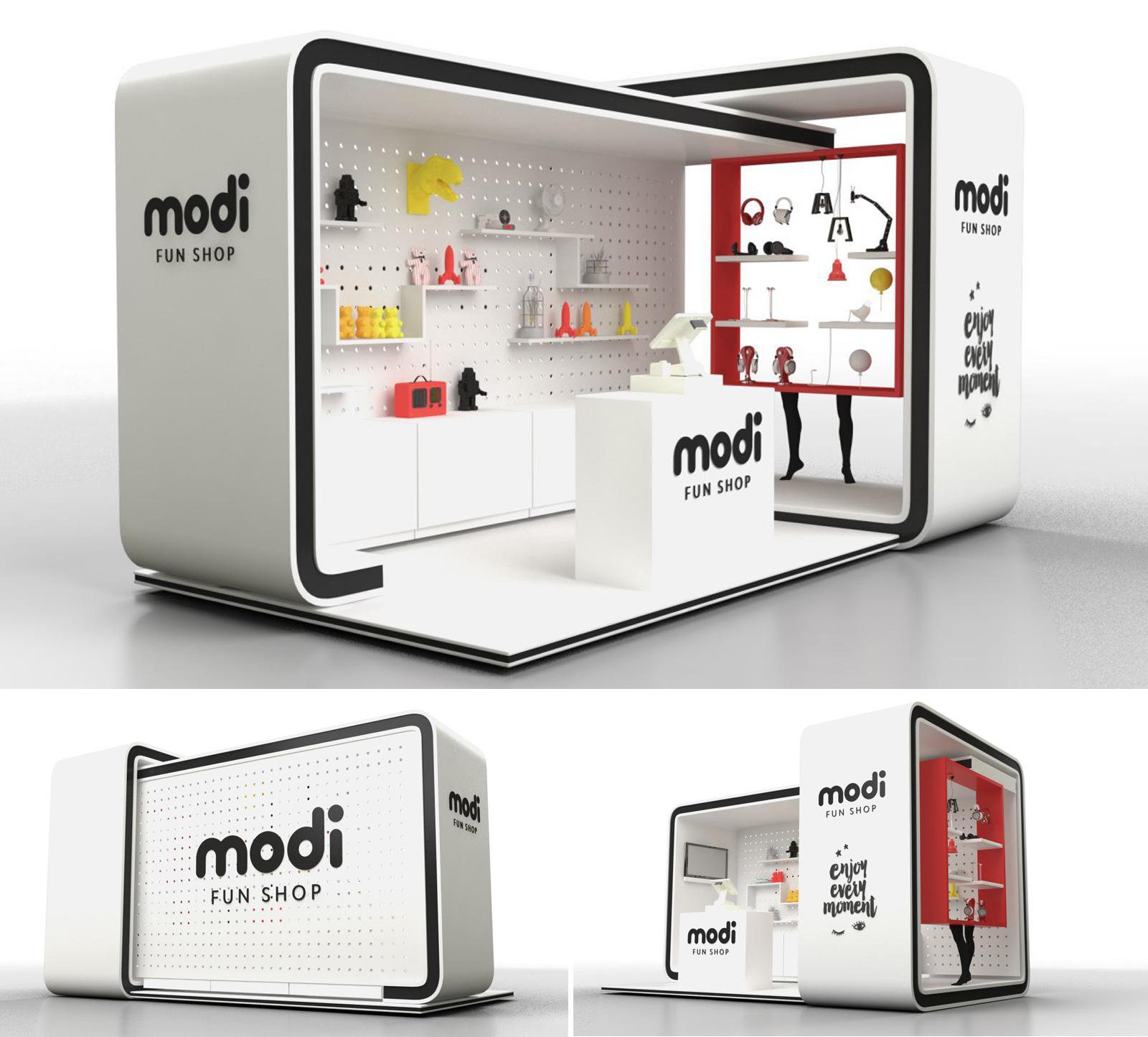 Дизайн нового формата pop-up store рассчитан на привлечение внимания, демонстрацию ключевых групп товаров и формирования узнаваемости бренда