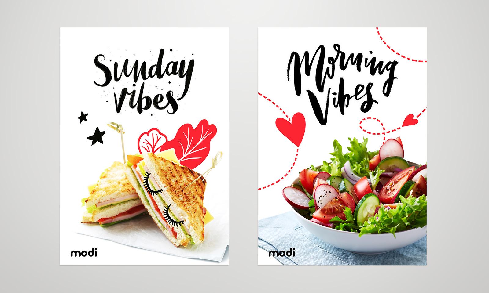 Профессиональная фотосъемка и фирменный стиль Modi Fun Cafe позволяет раскрыть вкус ключевых блюд