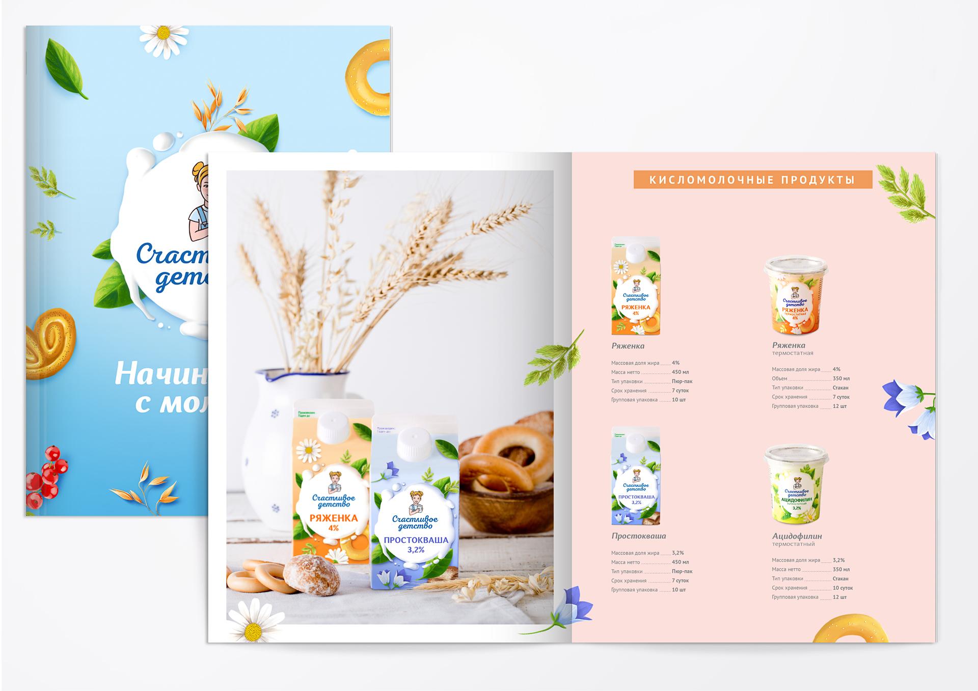 Дизайн каталога продукции «Счастливое детство» позволяет бренду эффективно взаимодействовать с партнерами, сетями и оптовыми клиентами