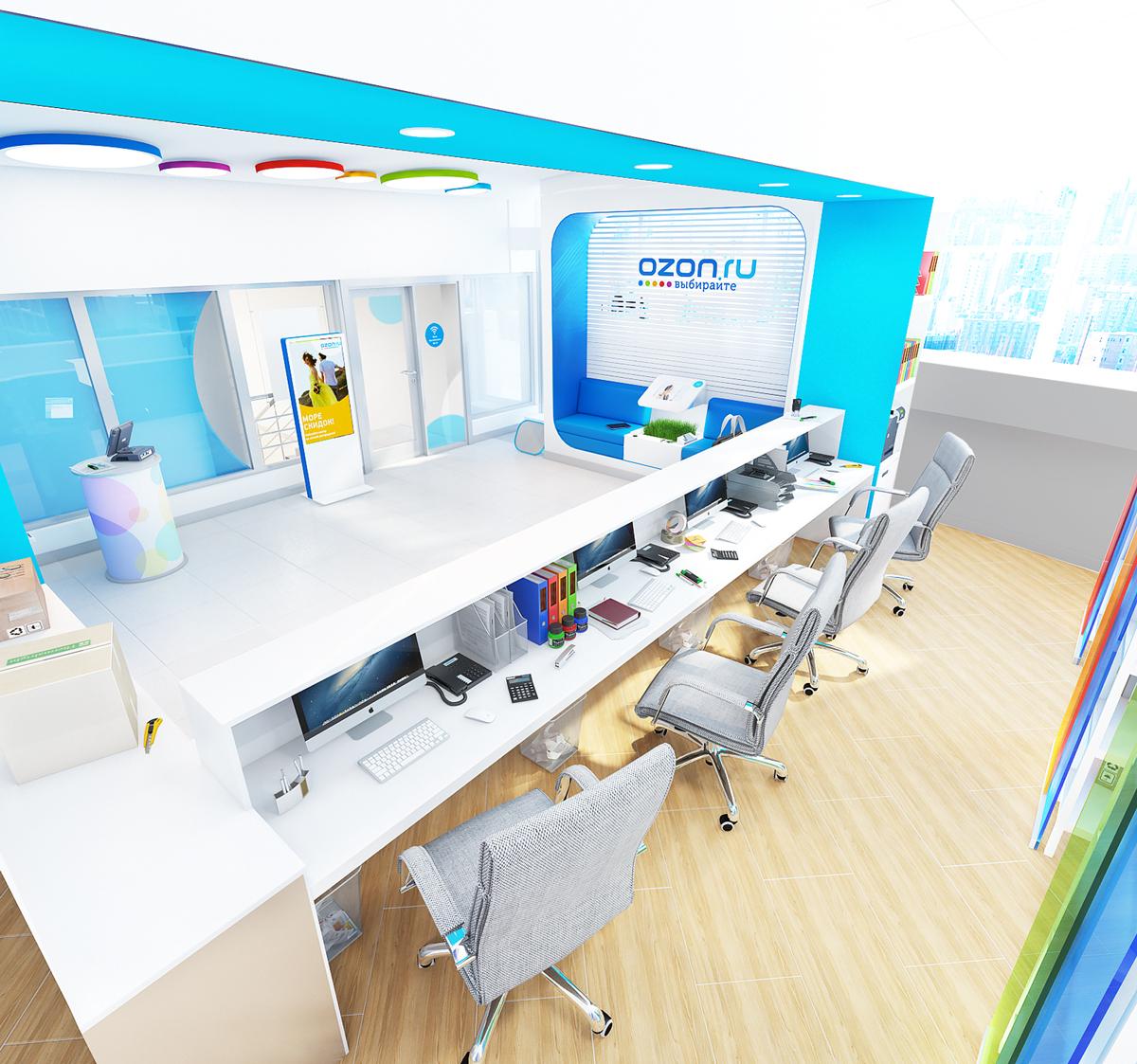 Комфортное и эргономичное рабочее пространство сотрудников OZON.RU