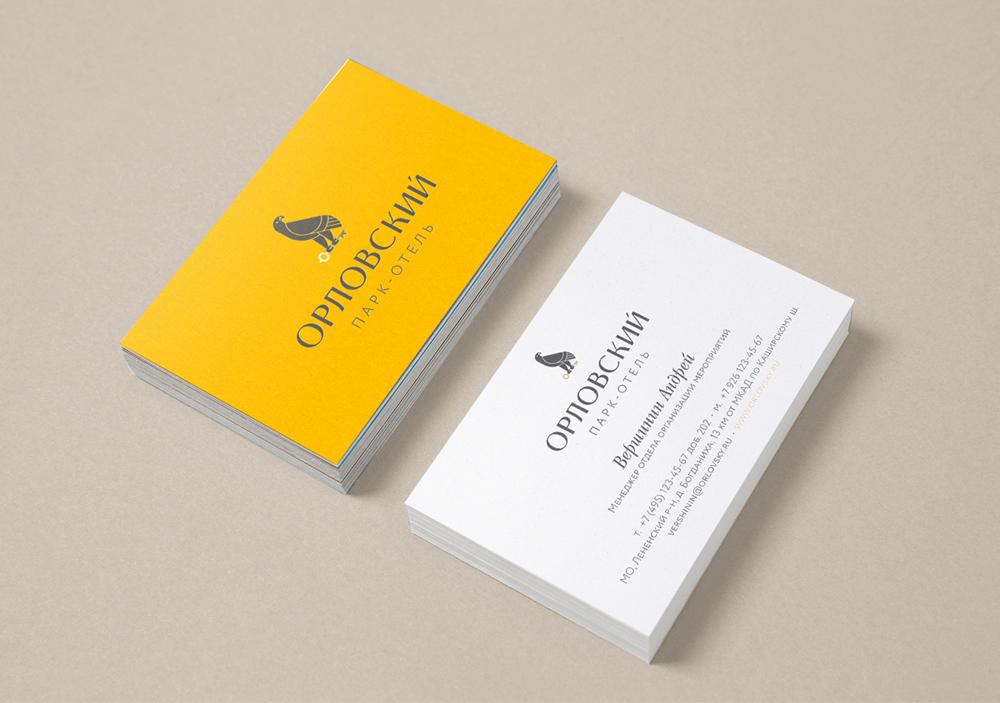 Разработка логотипа «Орловский» и его использование в визитках