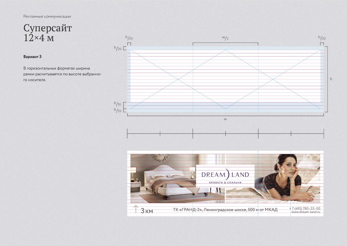 Дизайн рекламы Dream Land, суперсайт 12 х 4 метра