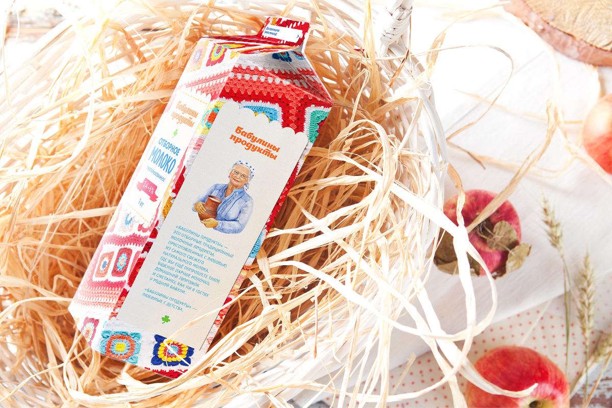 Портрет в дизайне упаковки «Бабулины продукты»