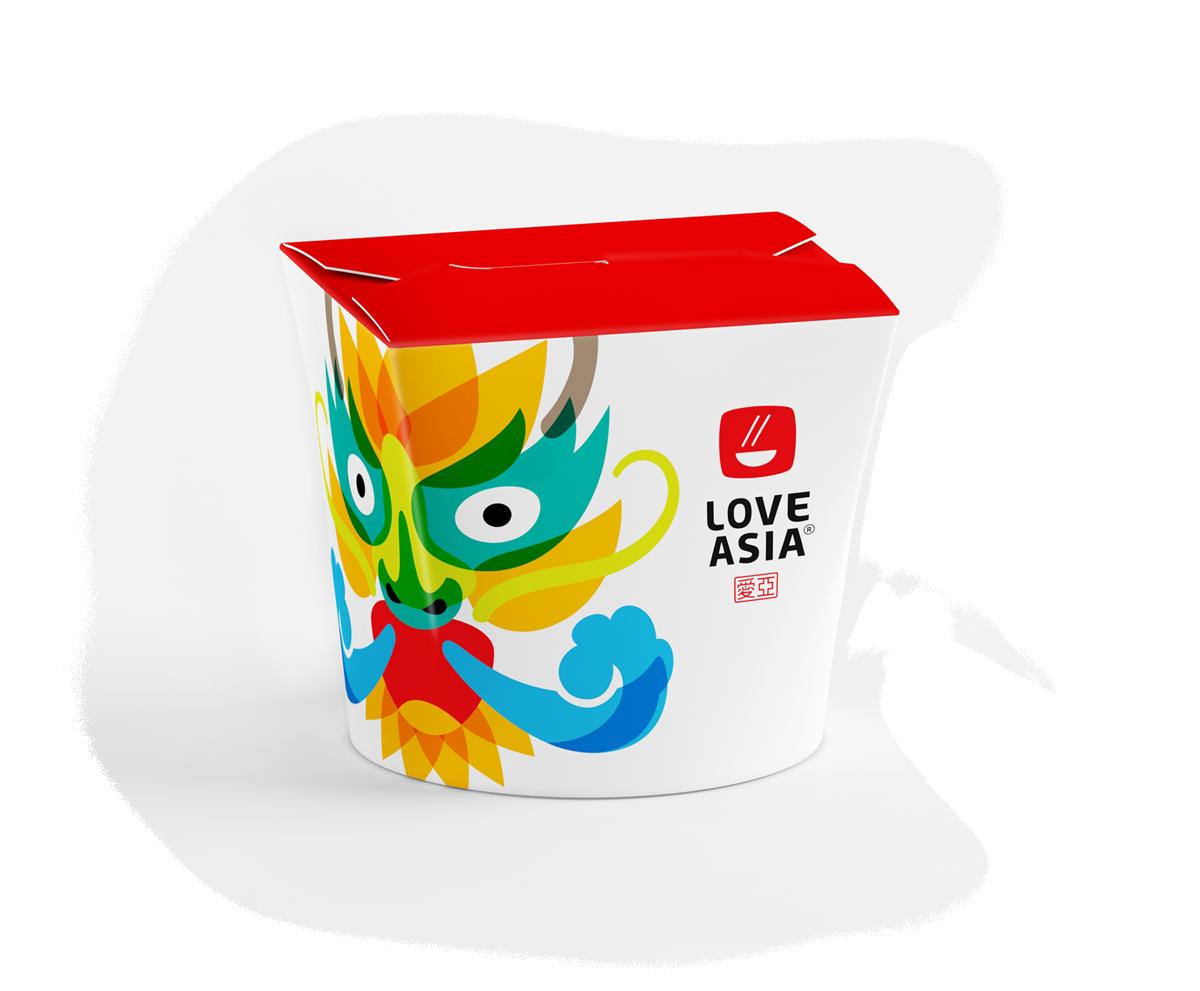 Дизайн логотипа и фирменный стиль бренда Love Asia