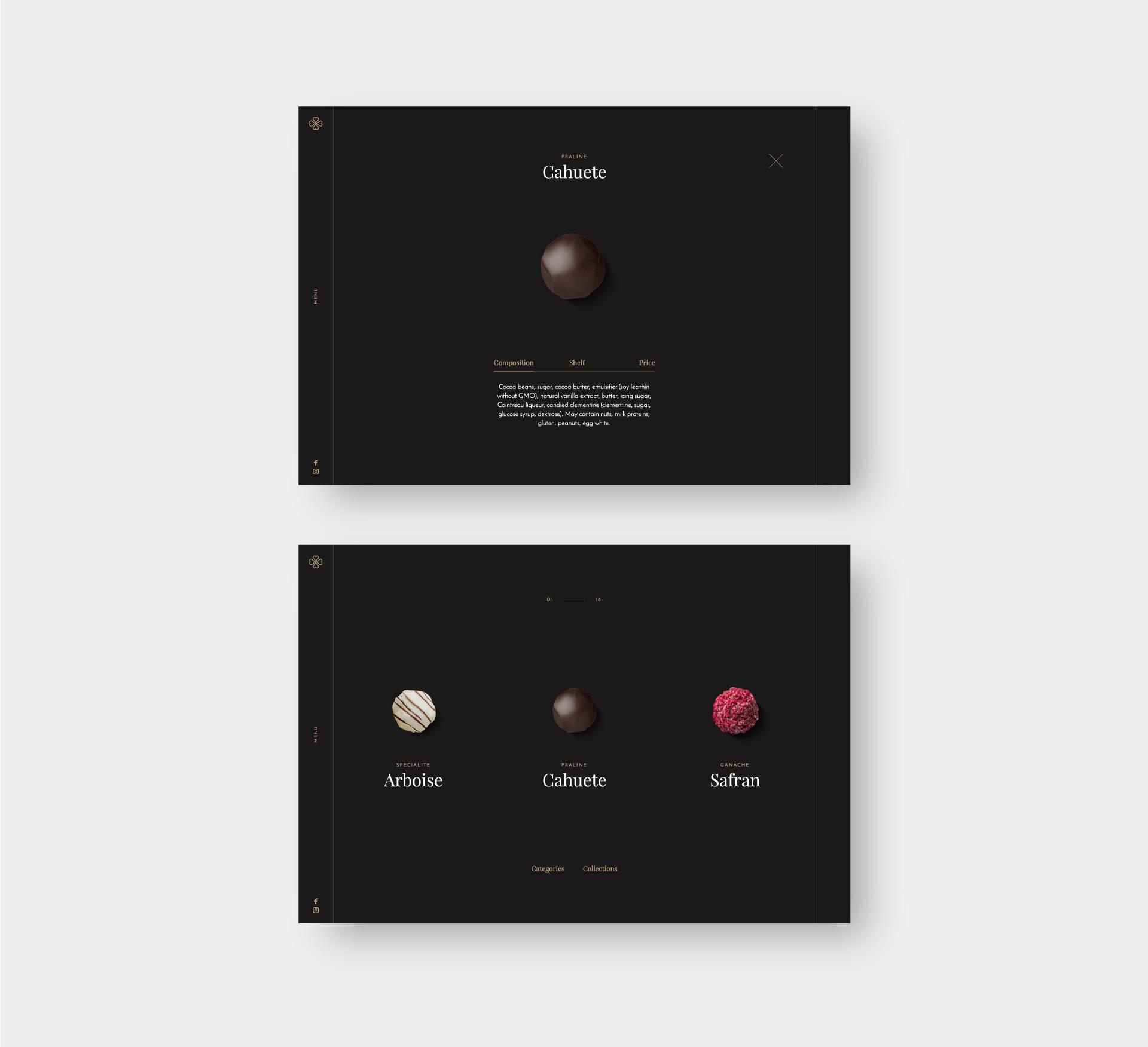Изделия Chocopaz в дизайне сайта