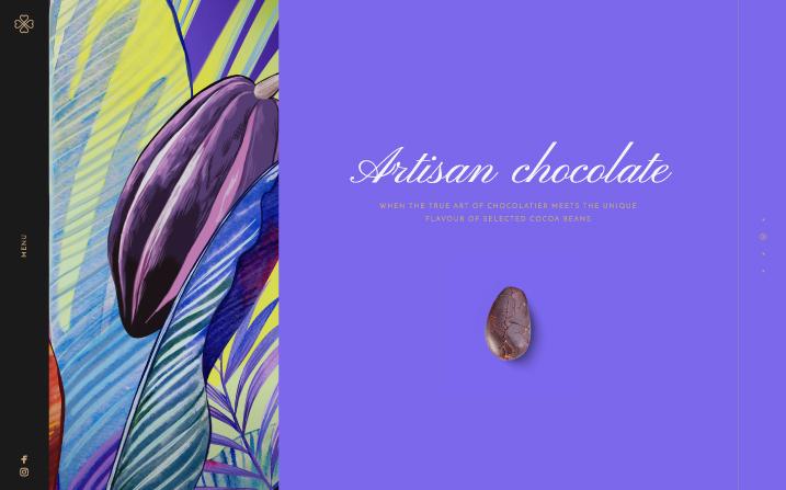 Авторская графика в фирменном стиле подчеркивает ручную работу в основе шоколадных конфет Chocopaz